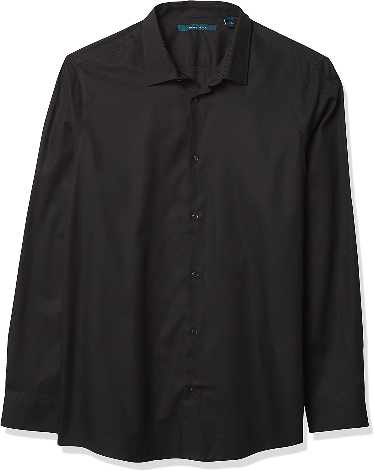 Perry Ellis Men's Spill Stain Resistant Solid Dobby Long Sleeve Button-Down Shirt