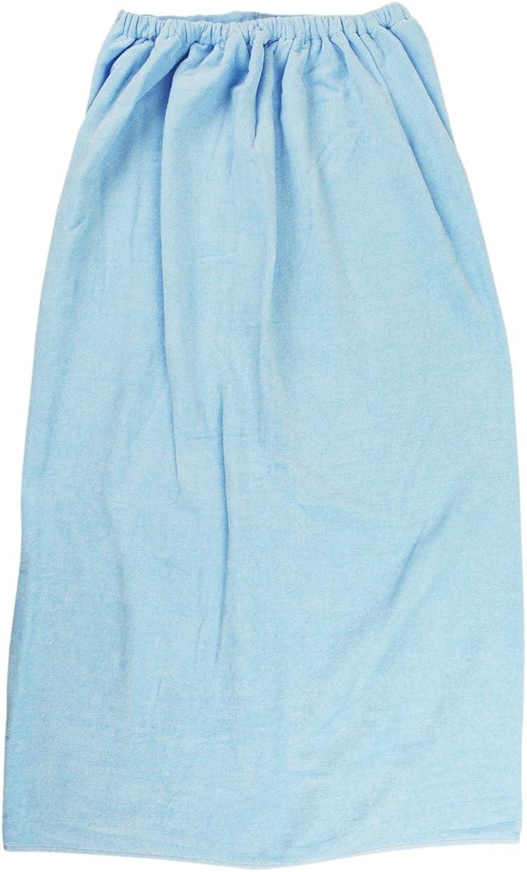 テレマコス望み国籍林(Hayashi) 巻きタオル ブルー 100×120cm シャーリングカラー 無地 大人 LL MD454811