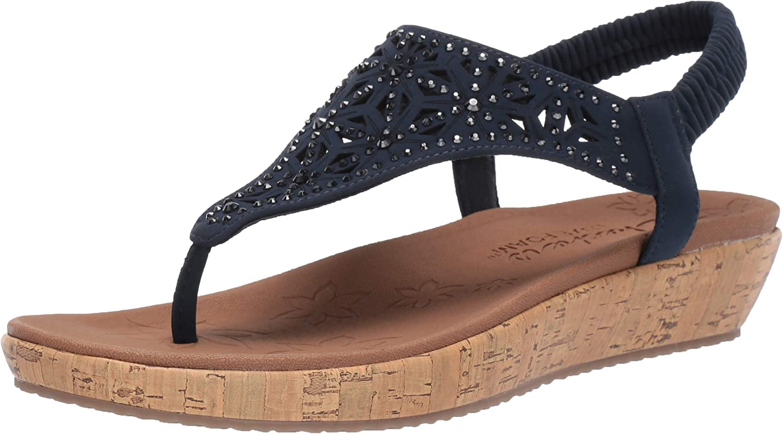 Skechers Womens Brie - Dally - Laser Cut Rhinestone Hooded Slingback Sandal Sandal