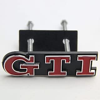 FidgetFidget Red GTI Badge Front Grille Grill Car Emblem Logo for VW Golf Polo Passat MK4 MK5