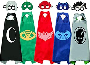 NuGeriAZ Superhero Capes for Kids,Superhero Toys for Boys -Halloween Dress Up Superhero Costumes 4-10 Year Old Boy Gifts