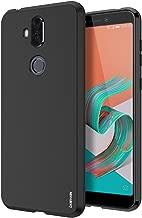 ZenFone 5 Lite Case, CASEVASN [Shockproof] Anti-Scratches Flexible TPU Gel Slim Fit Soft Skin Silicone Protective Case Cover for Asus ZenFone 5 Lite ZC600KL (Black)