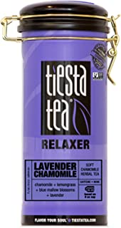 Tiesta Tea Lavender Chamomile, Soft Chamomile Herbal Tea, 50 Servings, 2 Ounce Tin, Caffeine Free, Loose Leaf Herbal Tea Relaxer Blend, Non-GMO
