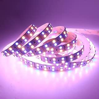 LEDENET 16.4FT Double Row SMD 5050 RGBWW Color Changing Flexible LED Strip DC 24V 5M 600LEDs Non-Waterproof RGB Warm White LED Ribbon Tape Lamp (RGBWW LED Strip)