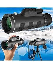 単眼鏡 40倍 高倍率 高級プリズムBak4搭載 高透過率 広角 人気 軽量 防水霧 耐衝撃 IPX7防水 8 [並行輸入品]