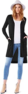 Michael Stars Women's Jasper Poorboy Long Sleeve Cardigan with Elbow Patches