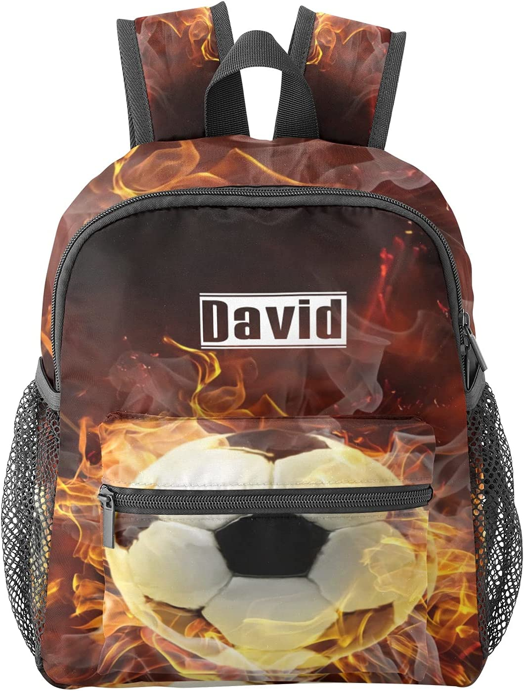 Cool Surprise price Super sale Soccer Ball Sport Fire Name Waterproof Prescho Personalized