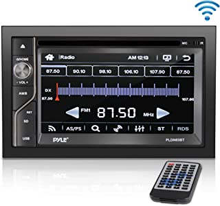 Upgraded Pyle Double Din Touchscreen | DVD CD Player | Bluetooth Handsfree Calling | 6.5 in LCD Monitor | USB/Micro SD Card Slot | AM FM Radio | RCA to AUX Input | Remote Control Included (PLDN63BT)