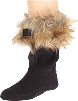 Faux Fur Cuff Boot Sock (Toddler/Little Kid/Big Kid)