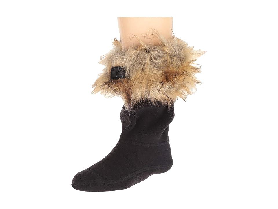 Hunter Kids Faux Fur Cuff Boot Sock (Toddler/Little Kid/Big Kid) (Tawny) Girls Shoes