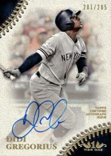 2018 Topps Tier One #PPA-DG Didi Gregorius Certified Autograph New York Yankees Baseball Card - Only 285 made!