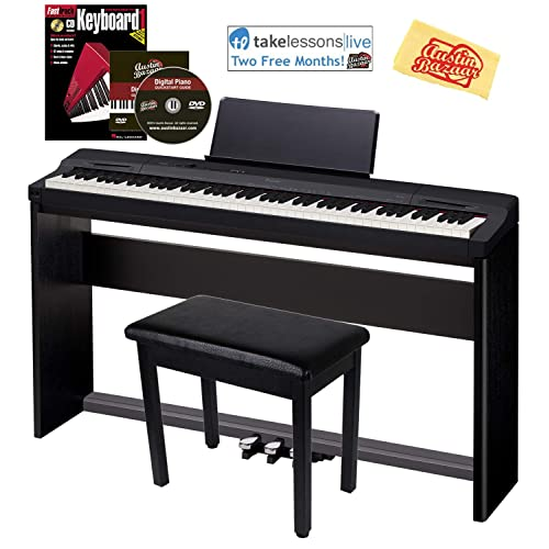 Casio Privia PX-160 Digital Piano - Black Bundle with CS-67 Stand,