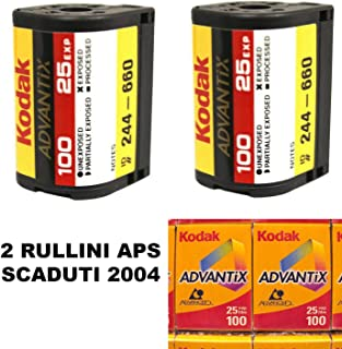2 rodillos APS COLORES 40 POSE 100 ASA SCADUTI 2004 para LOMOGRAFIA LOMOGRAPHY LOMO APS ADVANCED FOTO SYSTEM