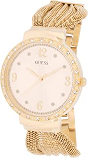 Guess Women's Gold Dial Stainless Steel Band Watch - W1083L2