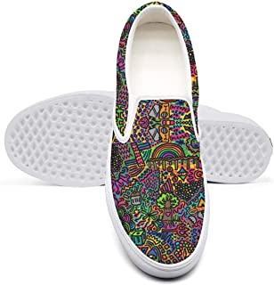 Women's Trippy Colorful Psychedelic Underwater World Casual Sneaker Cool Canvas Walking Rubber Sole Best Skateboarding Shoes