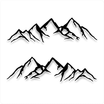 Windows Trucks Windshield Tablets and Home d/écor|7.5 x 2 Inches DW Mountain View Version 4 Bumper Sticker for Cars White Laptop Walls Car Vinyl Sticker Decal