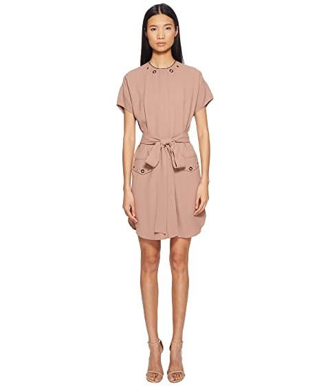 BELSTAFF Darcie Short Sleeve Tie Waist Crepe Dress