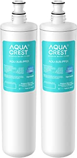 AQUACREST 3US-PF01 Under Sink Water Filter, Replacement for Filtrete Advanced 3US-PF01, 3US-MAX-F01H, 3US-PF01H, Delta RP78702, Manitowoc K-00337, K-00338 Water Filter (Pack of 2)