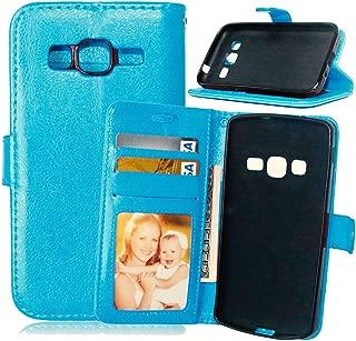 FUBAODA-Funda de Cuero para Samsung Galaxy Core Prime Prevail LTE G360,[Cable Libre] Cierre magnético con Ranura para Samsung Galaxy Core Prime Prevail LTE G360(Azul)