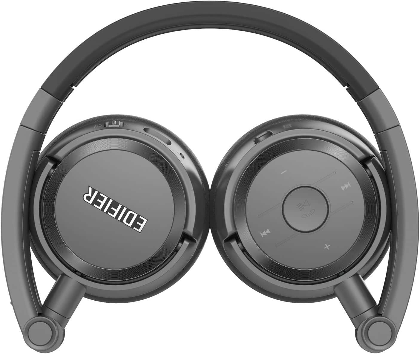 Edifier W675BT Wireless Headphones Over Ear Headset - Bluetooth v4.1 On-Ear Earphones, Foldable with NFC Quick Connect for TV/PC/Phone - Grey Grey