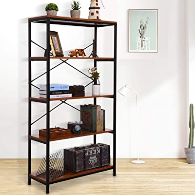 Amazon.com: Best Choice Products 4-Tier Rustic Industrial