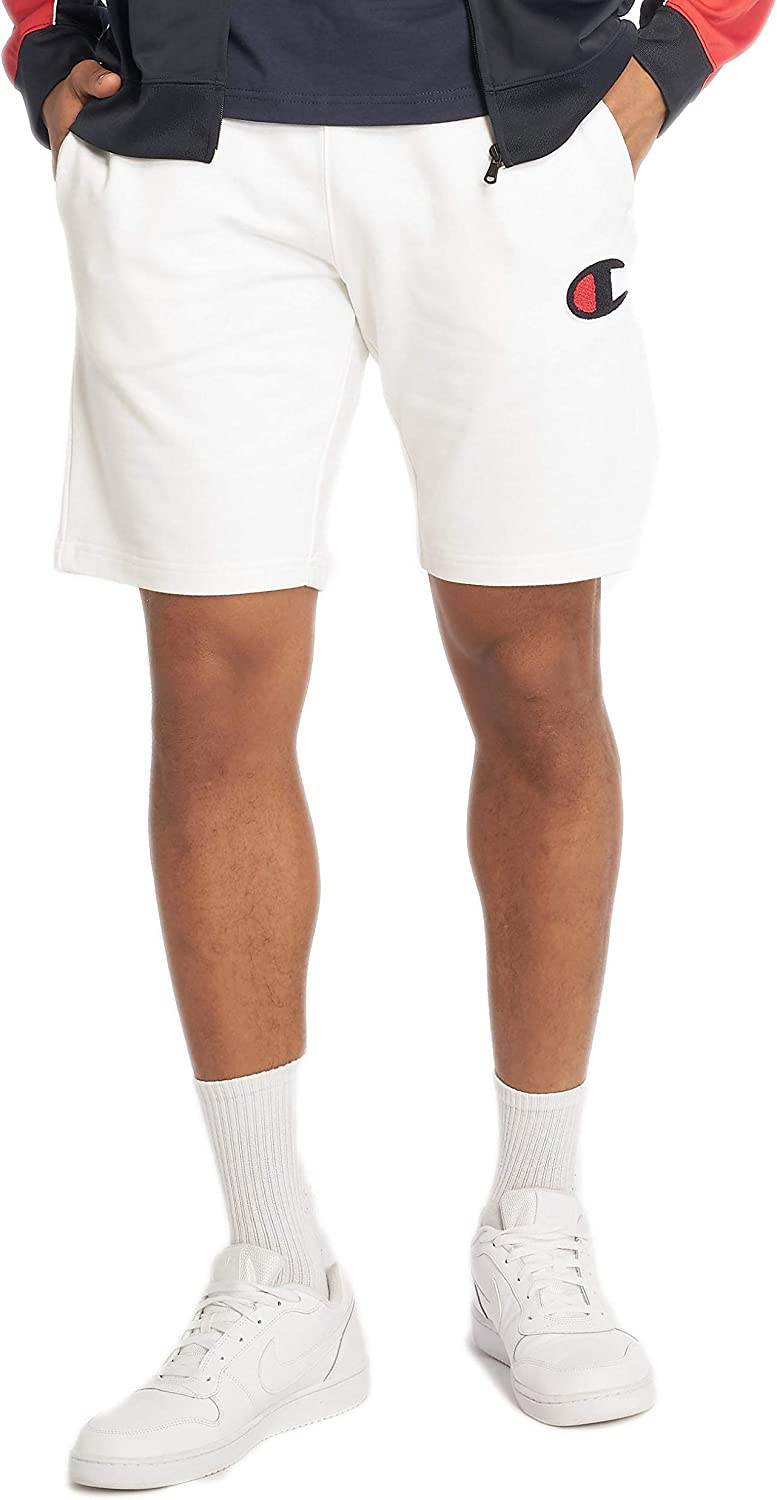 Champion Men's Bermuda Sweat Shorts, White