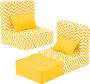 Ecore Fun American 18 Inch Doll Accessories Furniture 5 Pcs Sofa with Pillow Set Fit for 12-18 Inch Baby Doll, American 14.5 inch Doll, American 18 inch Doll