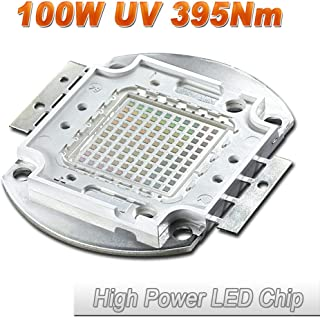 Hontiey High Power LED Chip 100W UV Purple Light 395-400Nm Bulbs 100 Watt Beads DIY Spotlights Floodlight COB Integration Lamp SMD Stage Lights