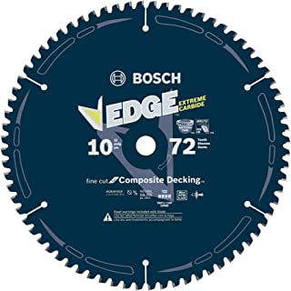 Bosch DCB1072CD 10 In. 72 Tooth Edge Circular Saw Blade for Composite Decking