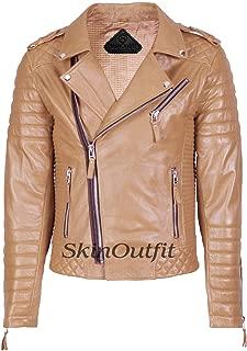 Men's Leather Jackets Motorcycle Biker Genuine Lambskin