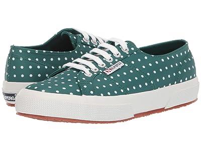 Superga 2750 Microtechw Sneaker (Green Polka Dot) Women