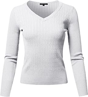 Made by Emma Women's Casual Thick Neck Line Pullover Cotton Based Knit Sweater