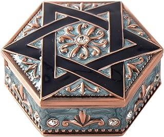 ROSEBEAR Boîte à Bijoux Organisateur de Bijoux Boîte de Rangement Collier Hexagonal pour Filles Dames Femmes Mariage Cadea...