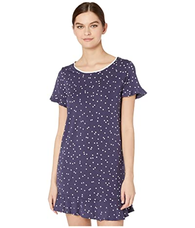 Kate Spade New York Modal Jersey Sleepshirt (Navy Scatter Dot) Women