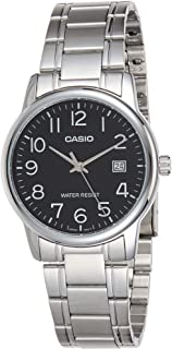 Casio Men's Black Dial Stainless Steel Analog Watch - MTP-V002D-1BUDF