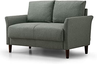 ZINUS Jackie Loveseat Sofa / Easy, Tool-Free Assembly, Green Stone
