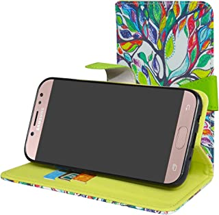 Galaxy J7 Pro J730G Case,Mama Mouth [Stand View] Premium PU Leather [Wallet Case] with Card Slots Cover for Samsung Galaxy J7 Pro J730G 2017 Smartphone,Love Tree