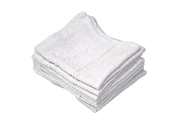 """R&R Value 61250 Wash Cloth 1.00 lb, 12"""" x 12"""", White (Pack of 12)"""