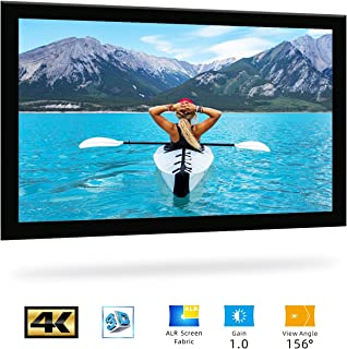 SCREENPRO Fixed Frame Home Theater Projector Screen for Wall 100-inch Diagonal 16:9, Active 3D 4K Ultra HD Ready for Indoor/Outdoor,Home(16:9, 100