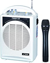 PylePro Latest Portable Mini PA Speaker System - Built in Rechargeable Battery Wireless Handheld Microphone and Aux Input Jack w/ Audio Control Center for Karaoke and Crowd Control Amplifier