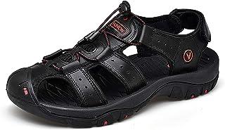 [ダント] スポーツサンダル アウトドアサンダル 革製 通気 耐久性 歩きやすい 防滑 防臭 吸汗 速乾 メンズ サンダル 水陸両用