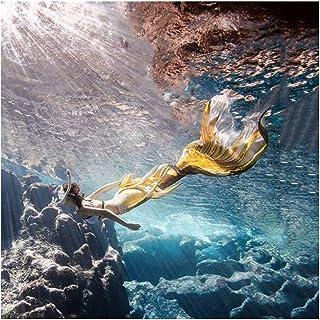 Mermaid Bikini Cola De Sirena Traje De Bano Sirena para Adultos/Niños/Hombres/Mujeres/Piscina/Fiesta/Exterior/Foto(Color:M...