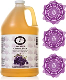 Carolina Castile Soap Lavender | Certified Organic - 3.8 Liters (1 Gallon)