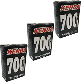 KENDA 700 x 18-25c Inner Tubes - 48mm Long Presta Valve (Pack of 3)