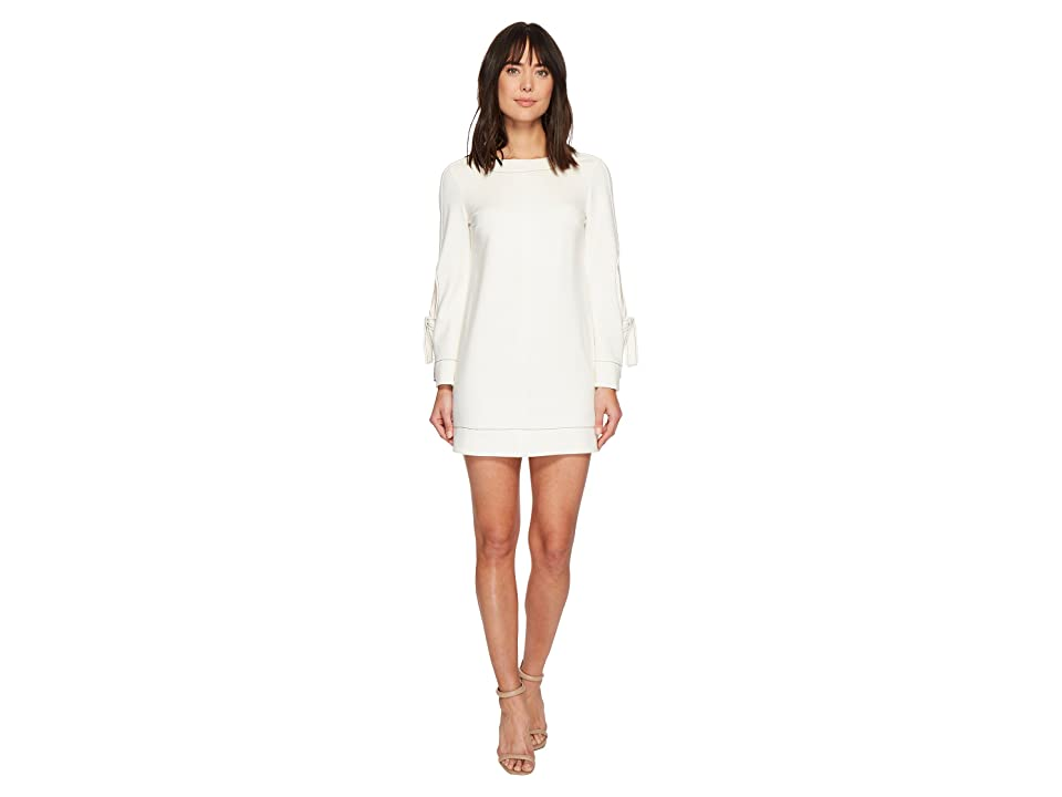 Laundry by Shelli Segal Exposed Elbow Dress with Contrast Stitching (Marshmallow) Women