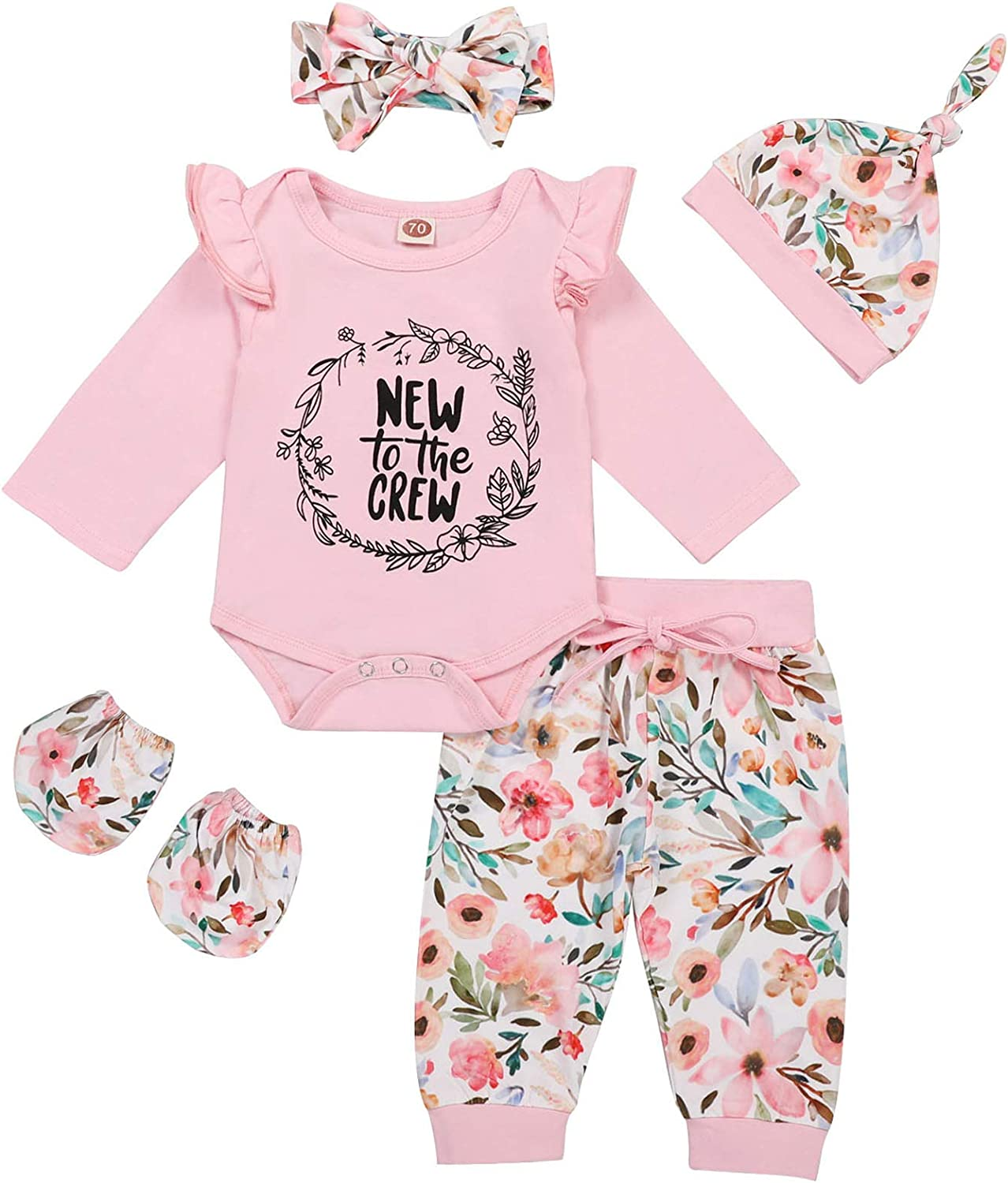 Newborn Baby Girl Outfits Daddy's Little Girl Letter Print Rompe