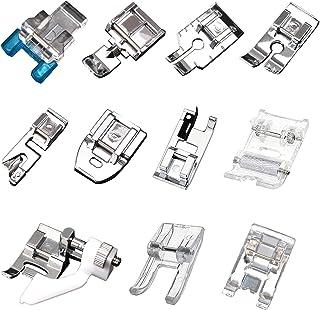11Pcs Presser Feet Multifunction Spare Foot Part Sewing Machine Presser Walking Feet Kit Sewing Machine Kit for Sewing Mac...