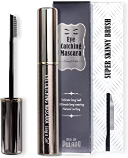 Comb Mascara Black Volume and Length, Waterproof Mascara, Carbon Black Clear Mascara for Eyelashes, Best Ma...