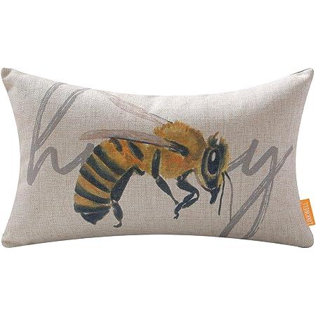 Insect hope decor Cotton cushion for bedliving room decor Designer hempcotton bedroom pillow
