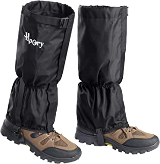 Hpory Leg Gaiters Waterproof for Men & Women Adjustable Breathable Snow Boot Gaiters, 600D Anti-Tear Oxford Cloth Hiking Leg Cover for Outdoor Climbing Fishing Hunting